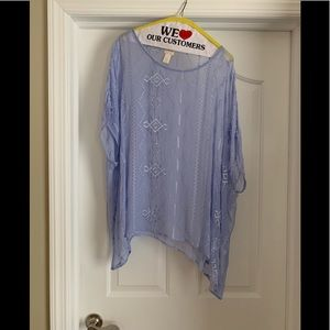 Chico's sheer poncho/overlay